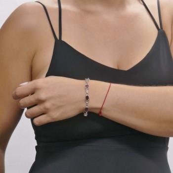 Браслет для женщины, серебро 925 проба, длина 21 см