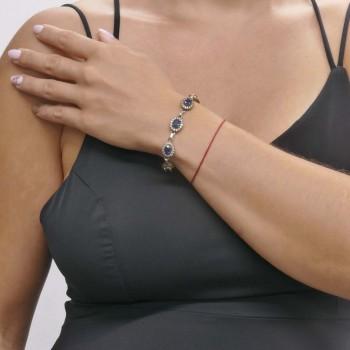 Браслет для женщины, серебро 925 проба, длина 20 см