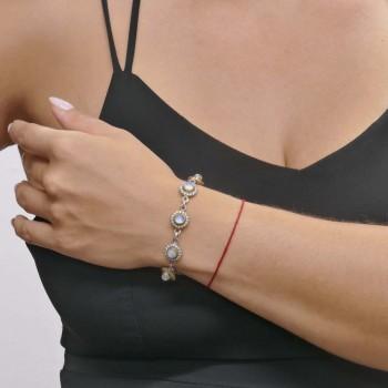 Браслет для женщины, серебро 925 проба, длина 22 см