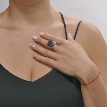 Ring for a woman, 925 sterling silver, amethyst