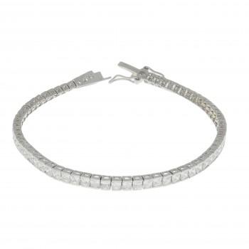 Браслет для женщины - теннисный, серебро 925 проба, длина 19.5 см