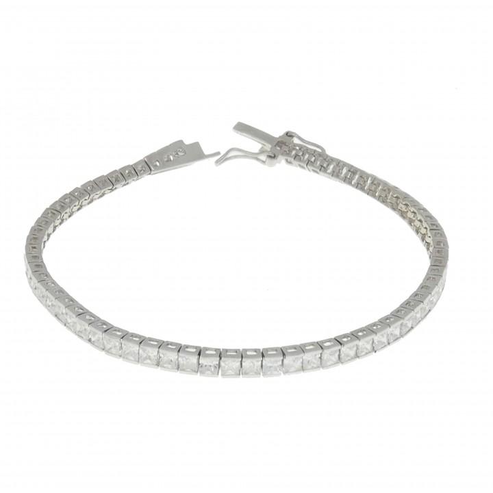 Bracelet for women - tennis, 925 sterling silver, length 19.5 cm