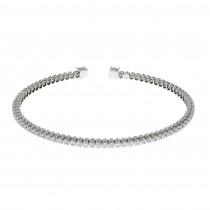 Bracelet for woman - tennis, silver 925, diameter 6 cm