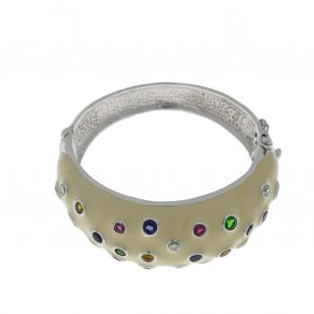 Браслет для женщины, серебро 925, диаметр 6 см