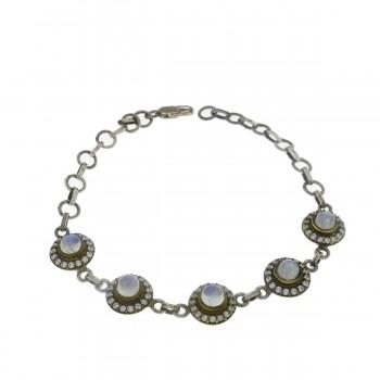 Bracelet for a woman, 925 sterling silver, length 22 cm