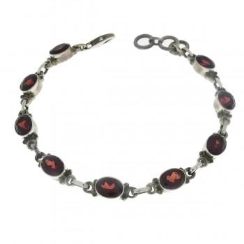Bracelet for a woman, 925 sterling silver, length 21 cm