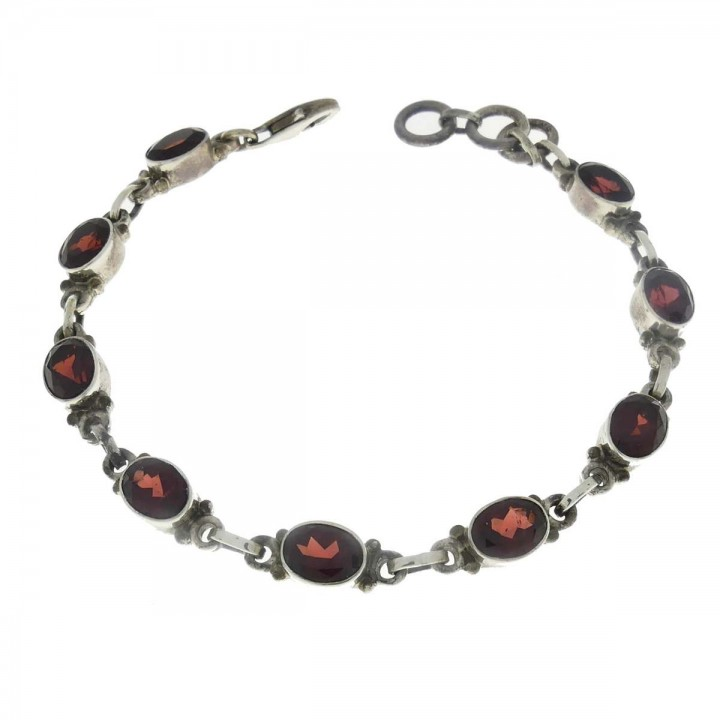 Bracelet for a woman, 925 sterling silver, length 21 cm