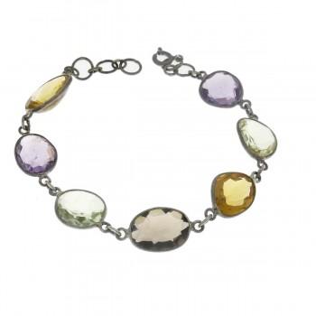 Bracelet for a woman, 925 sterling silver, length 19.5 cm