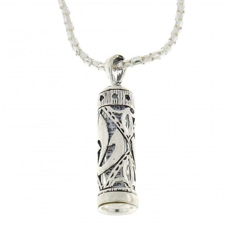 Кулон, серебро 925 проба, Мезуза