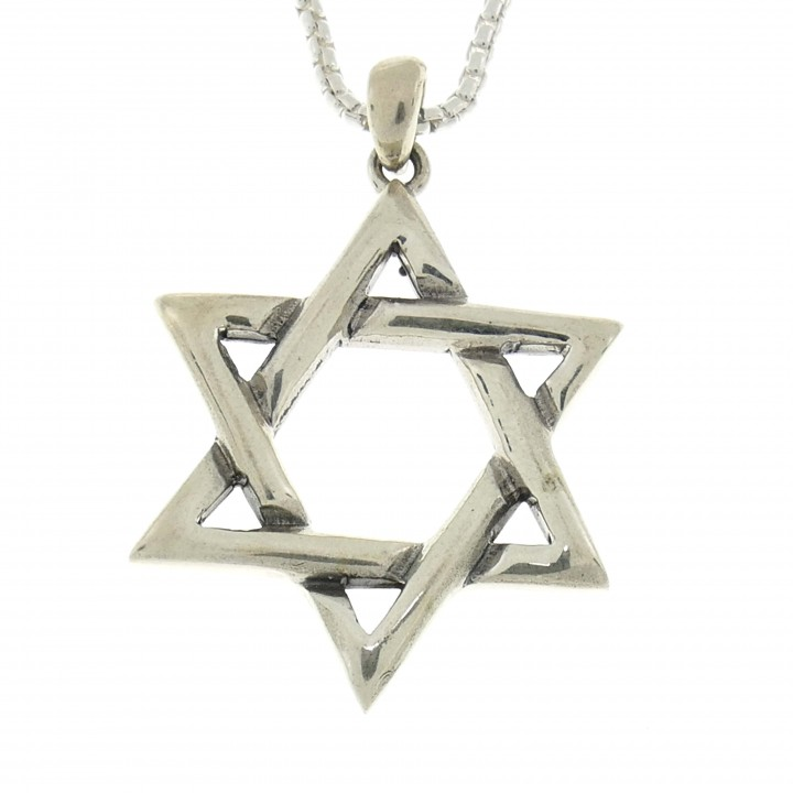 Silver pendant, 925 sterling silver, Star of David