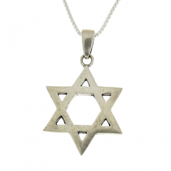 Silver pendant, 925 sterling silver, Star of David