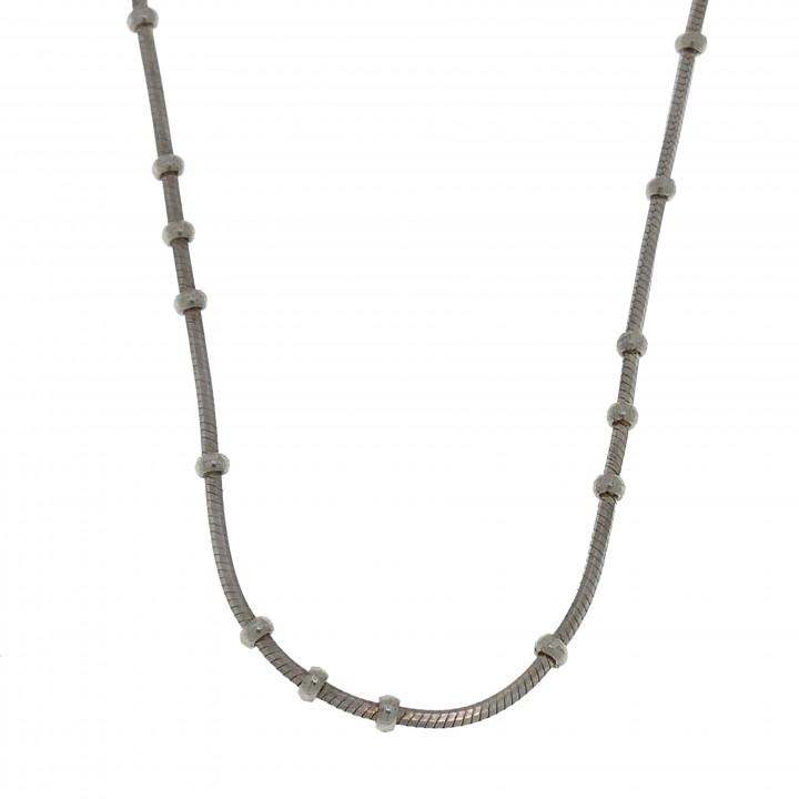 Серебряная цепочка короткая