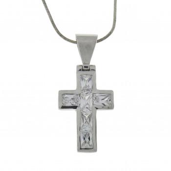 Кулон - Христианский крест, серебро 925