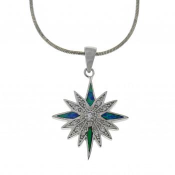 Кулон - Вифлеемская звезда, серебро 925