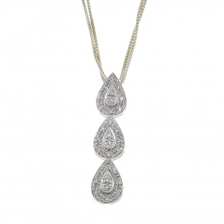 Кулон с бриллиантами - капли