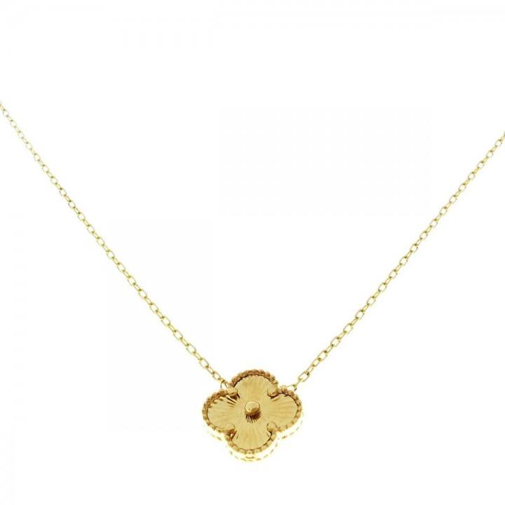 Кулон для женщины с цепочкой, желтое золото, длина 44 см