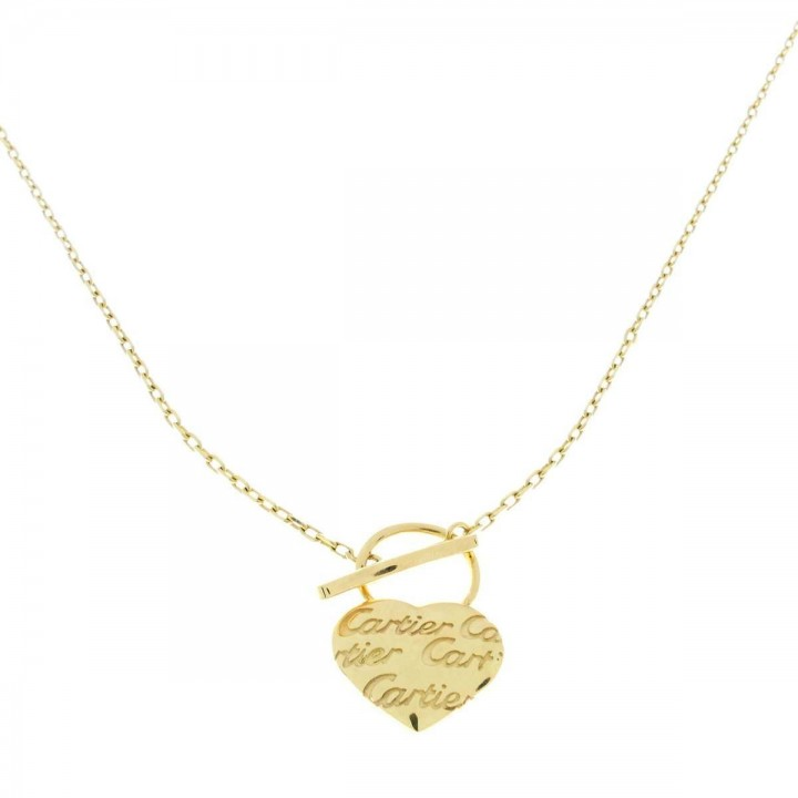 Pendant for a woman with a chain, yellow gold, length 48 cm