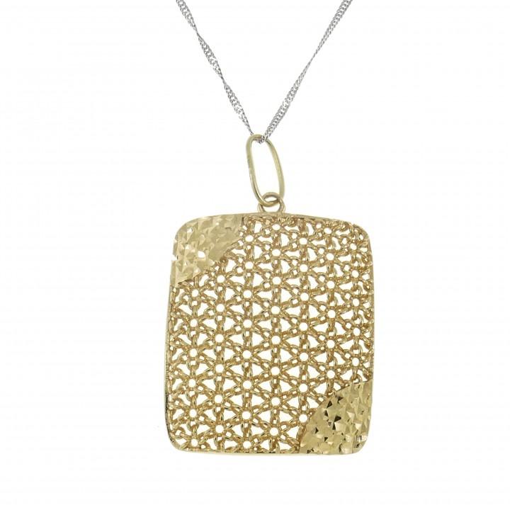 Кулон для женщины, желтое золото 14 карат