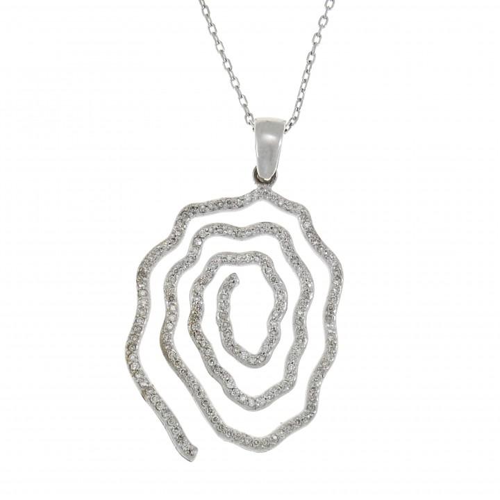 Кулон с бриллиантами - торнадо