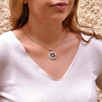 Кулон - знаки зодиака, белое золото 14 карат, длина 3.5 см