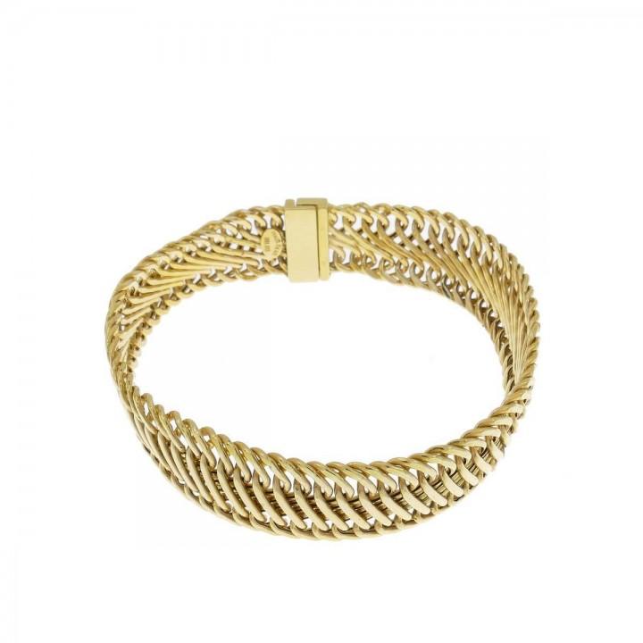 Браслет для женщины, желтое золото 14к, длина 19 см