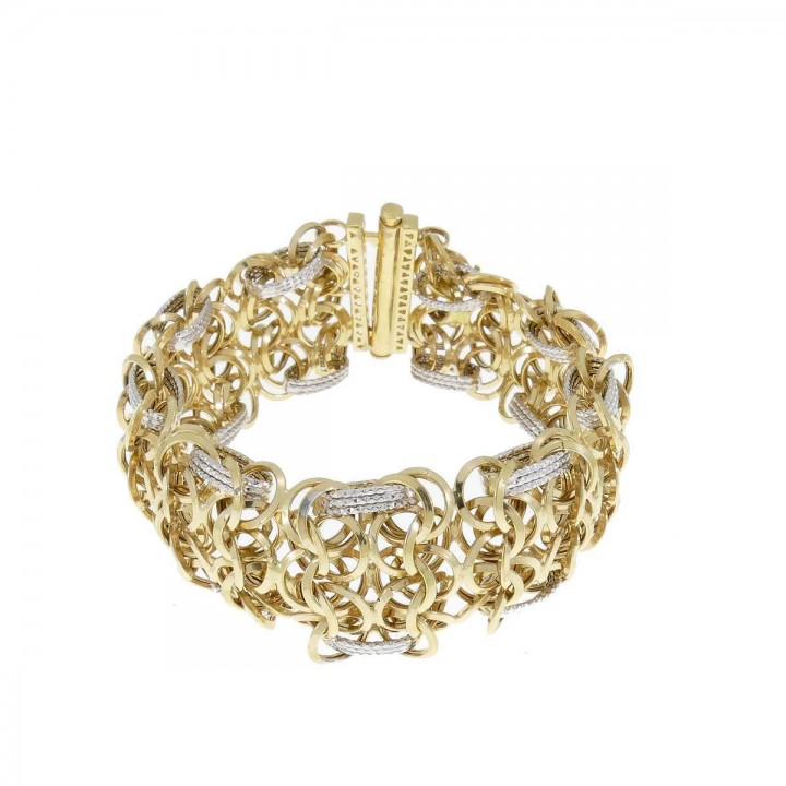 Bracelet for a woman, 14K yellow and white gold
