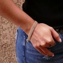 Bracelet for women with zirconium, 14 ct yellow gold