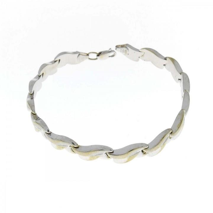 Bracelet for women, 14 ct white gold