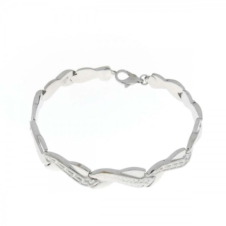 Bracelet for women, 14 ct white gold