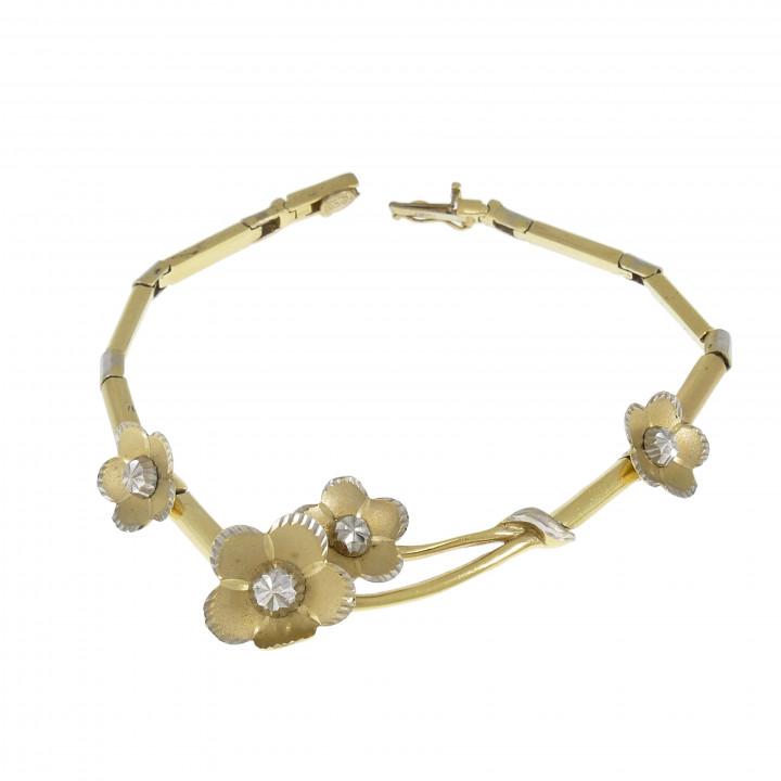 Женский браслет, жёлтое золото 14 карат