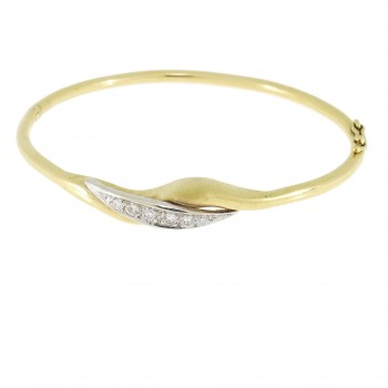 Bracelet for a woman with diamonds, 14K yellow gold