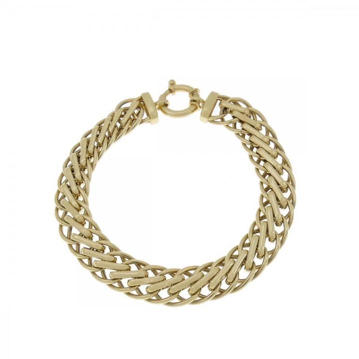 Браслет для женщины, желтое золото 14к, длина 20 см