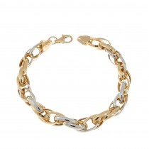 Bracelet for a woman, 14K red and white gold