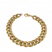 Bracelet for a woman, 14K yellow and red gold, length 19.5 cm