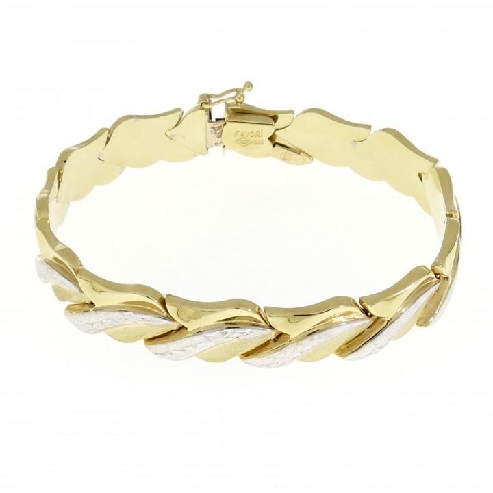 Браслет для женщины, красное и белое золото 14 карат