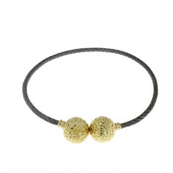 Браслет для женщины с родиумом, желтое золото 14 карат