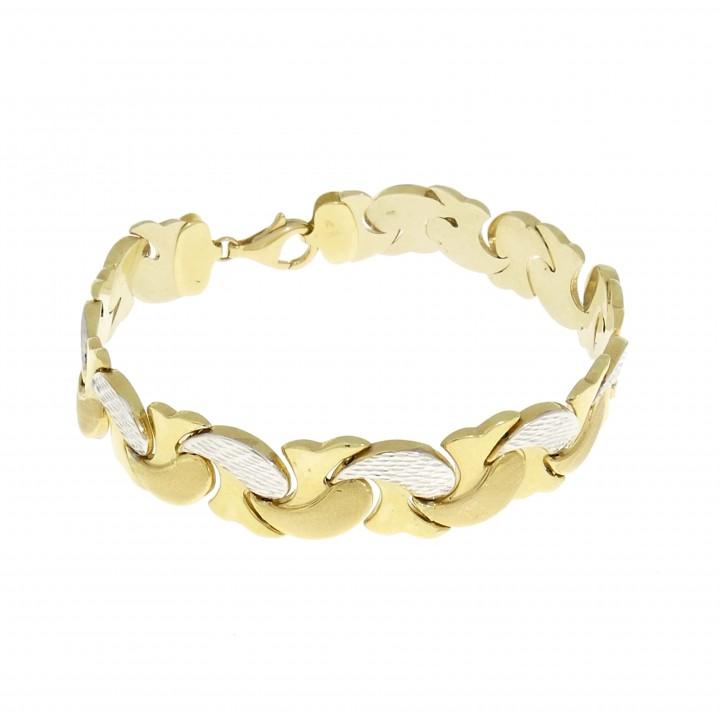 Женский браслет жёлтое и белое золото