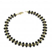 Narrow gold bracelet, 14K yellow gold
