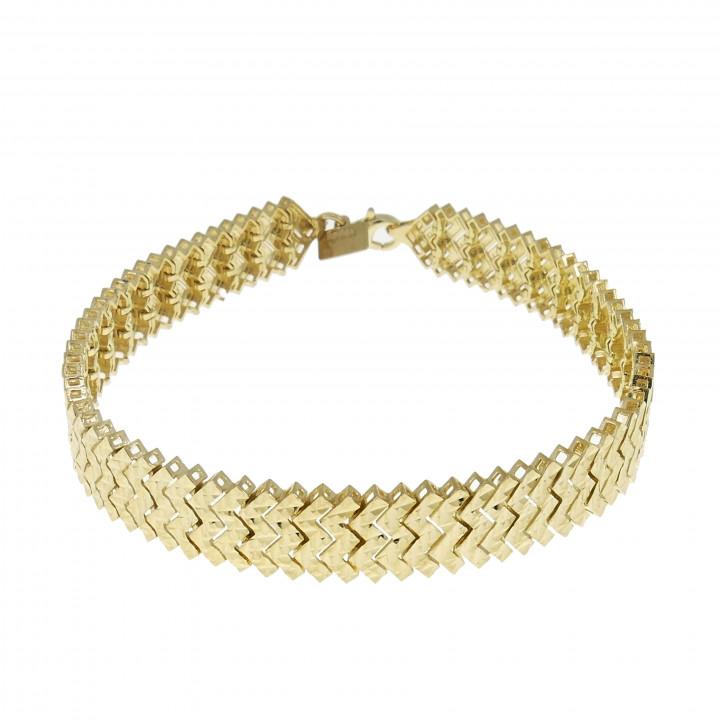 Жёсткий золотой браслет для женщины