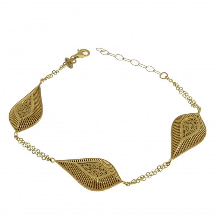 Браслет для женщины, жёлтое золото 14 карат