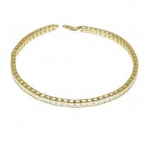 Tennis bracelet for woman, 14K yellow gold, length 19 cm