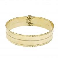 Браслет для женщины, марокканский, жёлтое золото 14 карат, диаметр 6 см