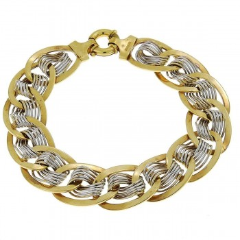 Bracelet for a woman, 14K white and yellow gold