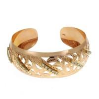 Браслет для женщины, красное золото 14 карат, цирконий