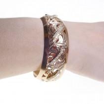 צמיד לאישה, זהב אדום 14 קראט, זירקוניה מעוקב