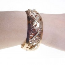 Bracelet for woman, 14K red gold, zircon