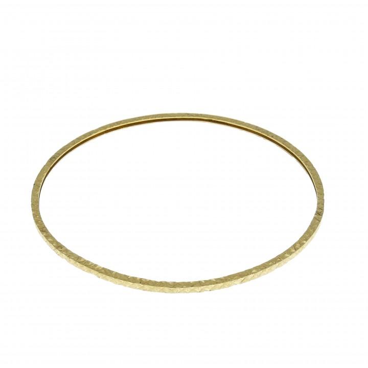 Браслет для женщины, марокканский, жёлтое золото 14 карат, диаметр 7 см