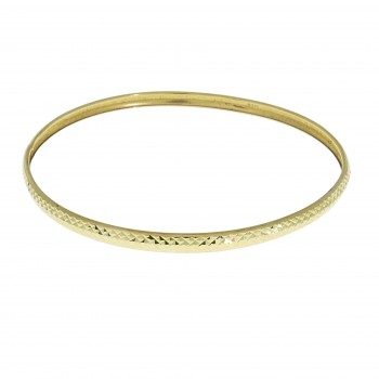 Bracelet for a woman, Moroccan, 14K yellow gold, diameter 6.5 cm