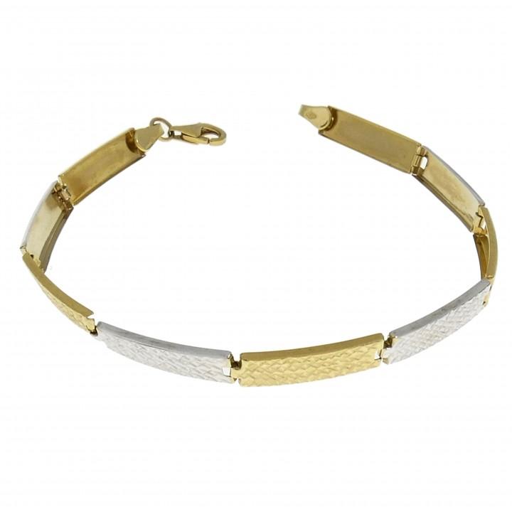 Браслет для женщины, жёлтое и белое золото 14 карат