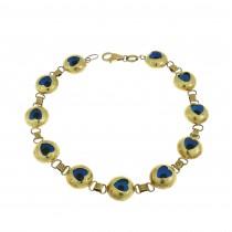 Gold bracelet, wide, 14K yellow gold
